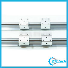 ZYLtech SBR16 2x Linear Rails+4x Bearing Blocks (SBR16UU)-2000mm/2m/~6.6ft - CNC