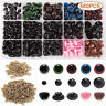 AIEX 560pcs Colorful Plastic Safety Eyes and Noses, Includes 170pcs Plastic Eye