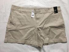 "New York & Company Hampton 4"" Shorts Size 16 Twill Stretch Cotton Khaki Casual"