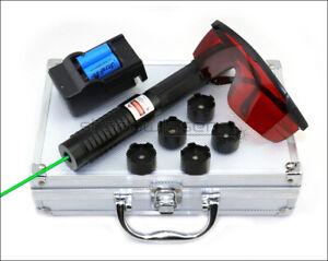 GX6 High Power 1MW 520nm Green Laser Pointer Visible Lazer Pen Laser Torch UK