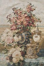 DaDa Bedding Rose Radiance French Rococo Floral Vase Tapestry Wall Hanging 28x43