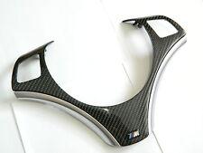 Echt Carbon BMW 1er 3er Lenkradspange Lenkradblende Steering Wheel Trim Cover