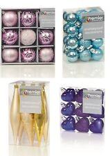 Décorations Arbre de Noël boules pailleté Gloss & Mat divers formes
