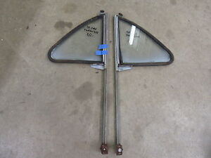 1955 Ford Town Sedan 4 door rear door vent window frame glass trim pair parts