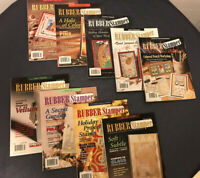 LOT OF 9 THE STAMPERS' SAMPLER MAGAZINE Rubber Stamping & Card Making 1999-2003