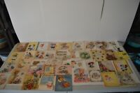 Vintage Greeting Cards 1950's Get Well Soon Hospital Stay Used Signatures