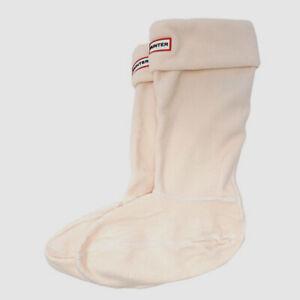 $30 Hunter Women's Pink Logo Fleece Original Tall 1-Pair Welly Boot Socks Size L
