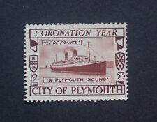 GB Cinderella 1953 Coronation Year. City of Plymouth