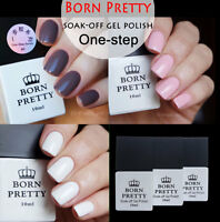 3pcs 10ml Soak Off One-step UV Gel Polish Brown White Pink Manicure Born Pretty