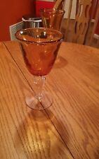 Hand Blown Bubble Glass Goblet, Water/Wine