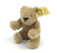 Steiff Original Teddy Bear Mini Flexible Mohair Plush 11cm 4in ID Button Tag Vtg