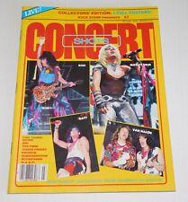 Concert Shots #3 Rock Scene Magazine 1985 KISS Band Poster Motley Van Halen Ratt