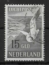 NETHERLANDS 1951 Used Seagulls 15 Gld NVPH #LP12 CV €125 VF