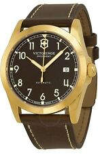 Swiss Army Victorinox Infantry Mechanical Leather Mens Watch 241646