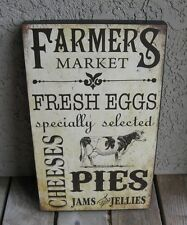 COW Farmers Market Wood Wall Box SIGN*Primitive/French Country Farmhouse Decor