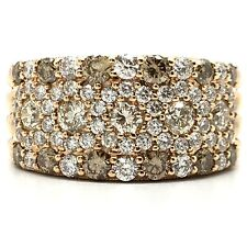 18K Rose Gold Multi-Color Diamond Ring D2.10 TW