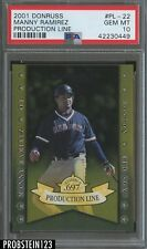 2001 Donruss Elite Primary Colors #PL-22 Manny Ramirez Boston Red Sox PSA 10 POP