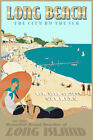 Long Beach Long Island New York South Shore New Retro Art Deco Poster Print 341