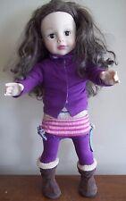 "18 "" brown eyes MADAME ALEXANDER  DOLL long hair sewing model Birthday gift"