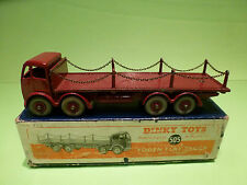 DINKY TOYS 505 FODEN FLAT TRUCK + CHAINS - RARE SELTEN - EXCELLENT COND. IN BOX