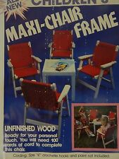 New vintage Childrens Maxi Chair Chair Kit Made in USA