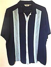 Da Vinci California retro/camp collar Charlie Sheen in beautiful blue XXL (Read)