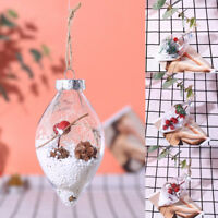 Ball Micro Landscape Hanging Pendant Water Drop Shape Christmas Tree Ornaments