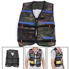 Camo Tactical Vest Jacket Gun Foam Bullets Dart Clip Holder For Nerf N-strike