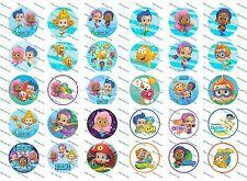"""30 Precut 1"""" Bubble Guppies Bottle cap Image Set 2"""