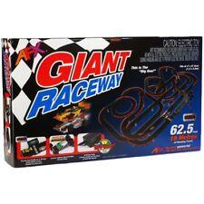 NEW AFX Giant Raceway 62.5' HO Slot Car Track Set Tri-Power Digital Lap Counter!
