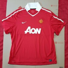 Nike Dri-Fit MANCHESTER UNITED Jersey 2010-2011 Home Shirt England EPL Red 3XL
