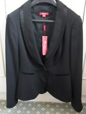 *NEW* stunning Monsoon black wool jacket size 12 with satin trim