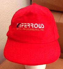 FERROUS METAL PROCESSING corduroy baseball hat Cleveland toll processor cap OHIO