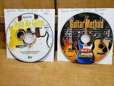 Teach Me Guitar by Voyetra & Guitar Method Beginner Instructional Cd Roms Lot