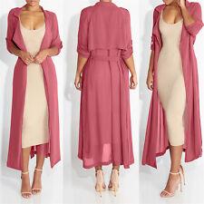 Ladies Elegant Kimono Jacket Long Sleeve Maxi Cardigan Chiffon Blouse Coat Tops