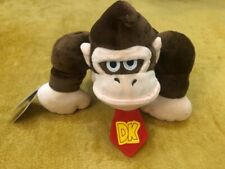"Super Mario Plush Teddy - Donkey Kong Soft Toy - Size 9"" / 22.5cm NEW & Tagged"