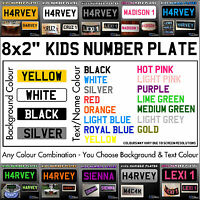 "8x2"" Kids Plastic Number Plate - Ride On Toy Car Childrens Childs with Name/Reg"