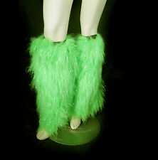 Green Furry Sexy Leg Warmers Adult Irish Party Halloween Costume Accessory 18""