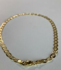 "10k ITALY Yellow Gold ""Gucci Link""Ankle Bracelet Chain  Anklet Ladies Women Teen"
