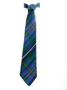 Windsor Men's Retro Neck Tie Green Red Navy Yellow & Blue Plaid