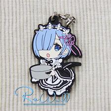 T167 Re Zero Kara Hajimeru Isekai Seikatsu Anime Rubber Strap Keychain Rem RAM