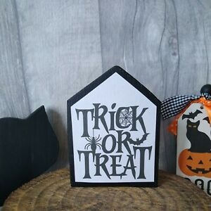 Mini house shaped Halloween sign ~ Rae Dunn inspired tiered tray decor