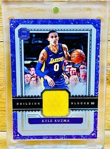 KYLE KUZMA 2017-18 Cornerstones Basketball Building Blocks Rookie Jersey Patch🔥