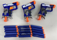 Lot of 3 Nerf N-Strike Jolt Blasters With 15  Darts Tested Working