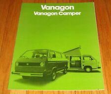 Original 1980 VW Volkswagen Vanagon Van & Camper Sales Brochure