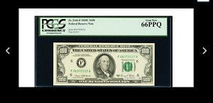 AN ATLANTA Fr. 2166-F $100 1969C Federal Reserve Note. PCGS Gem New 66 PPQ.