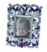 Mini Picture Frame 025PP Rectangle with Austrian Crystals Adorable Collectible