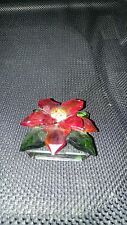 "1 3/4"" TALL RED CRYSTAL FLOWER  FIGURINE -  Reflections By Paragon"