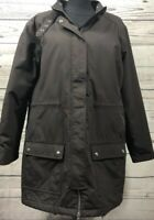 Land's End 1X Nylon Shell Polyester Lined Coat