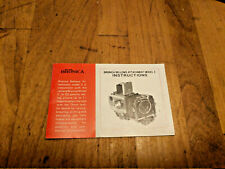 Bronica Bellows Attachment Model 2 Instruction Manual